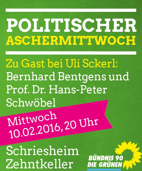 Politischer Aschermittwoch am 10.02. um 20 Uhr im Schriesheimer Zehntkeller!