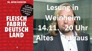 Lesung in Weinheim mit Dr. Anton Hofreiter